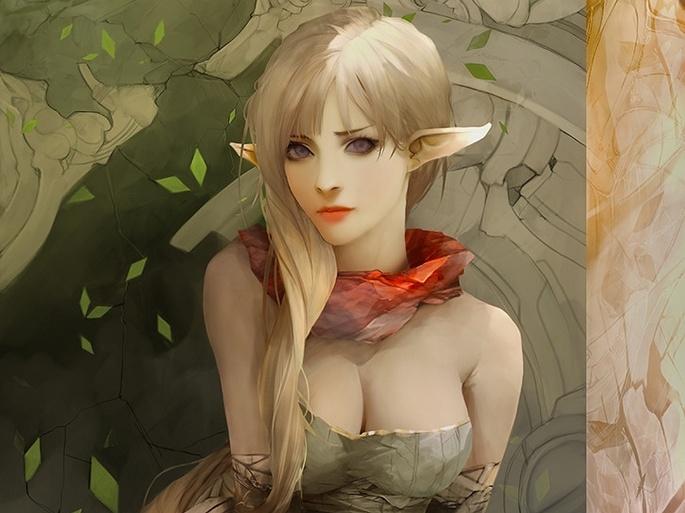 Девушки фэнтези, эльфийки. Fantasy girls (56 обоев)
