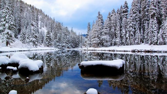 Зимняя река. Winter river (60 обоев)