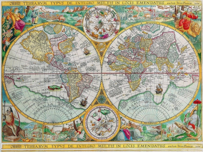 Карты мира. Maps of the world (102 обоев)