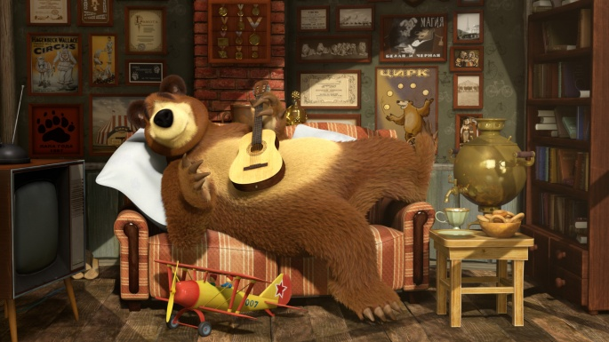 Маша и медведь. Masha and Bear (50 обоев)